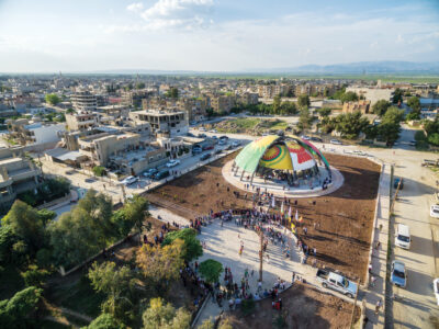 The inauguration of the People's Parliament of Rojava in Dêrik.